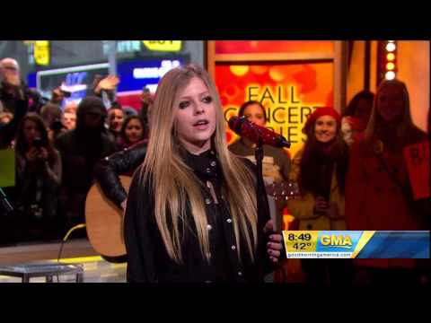 Avril Lavigne - Wish You Were Here @ Live at Good Morning America 22/11/2011