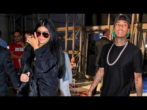 Kylie Jenner And Tyga Dodge Marriage Questions While Catching Flight In Matching Ensembles