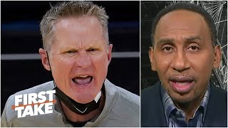 Stephen A. reacts to the Warriors historic scoring drought  First Take