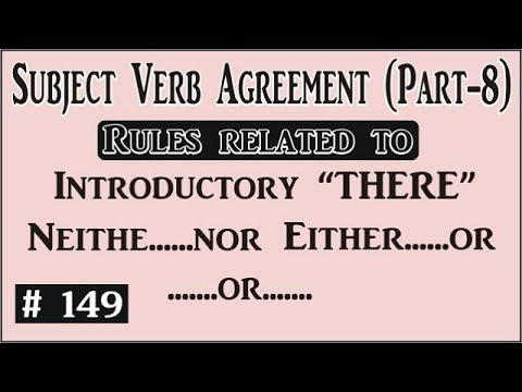 Subject Verb Agreement Part 8 I Rules Related To Introductory