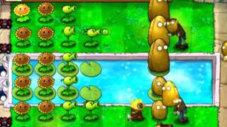 Plants Vs. Zombies - ZomBotany 2  (8 plants only, no upgrades) (audio commentary)