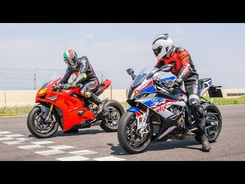 2019 BMW S1000RR Vs  Ducati Panigale V4R Review