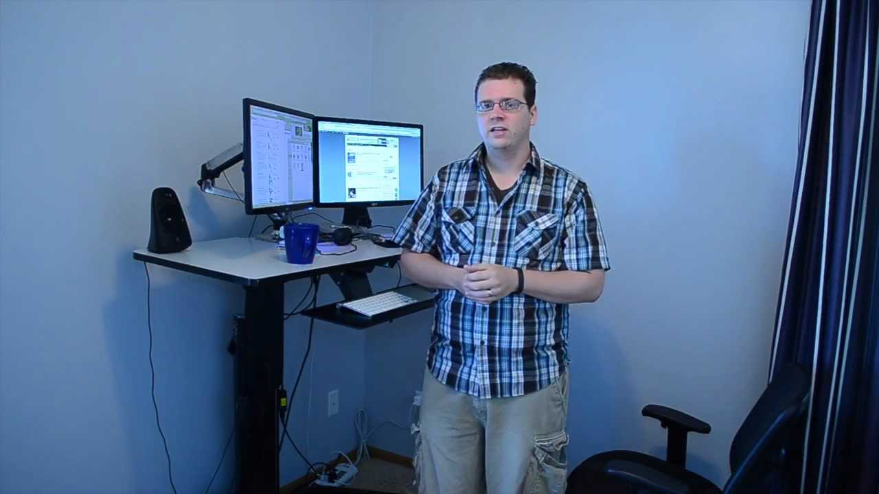Ergotron WorkFit D Review   Sit Stand Desk   YouTube