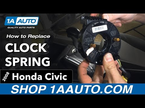 How to Replace Install Clock Spring 2008 Honda Civic