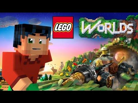 Lego Worlds 1.0 LIVE with Minecraft Steve is Robin.  Exploring new worlds
