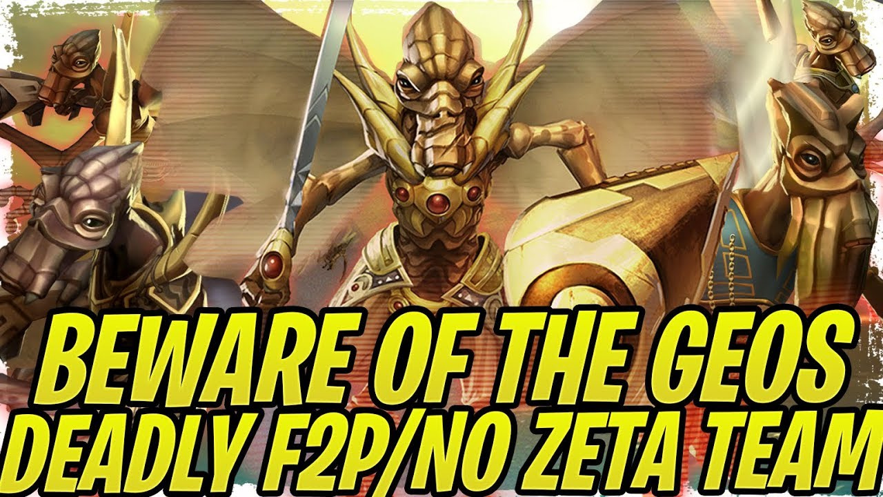 Geonosian Rework Gameplay! F2P/No Zeta Dream Team! Deadly in Grand