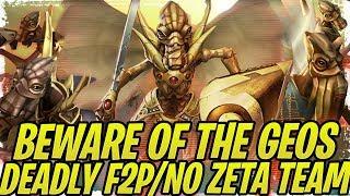 Geonosian Rework Gameplay! F2P/No Zeta Dream Team! Deadly in Grand Arena!   SWGoH