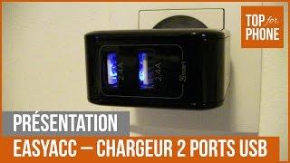 EASYACC - chargeur 2 ports USB (test par TFP)
