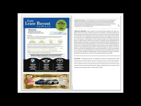 New Car Dealer Lease Direct Mail and Email Marketing