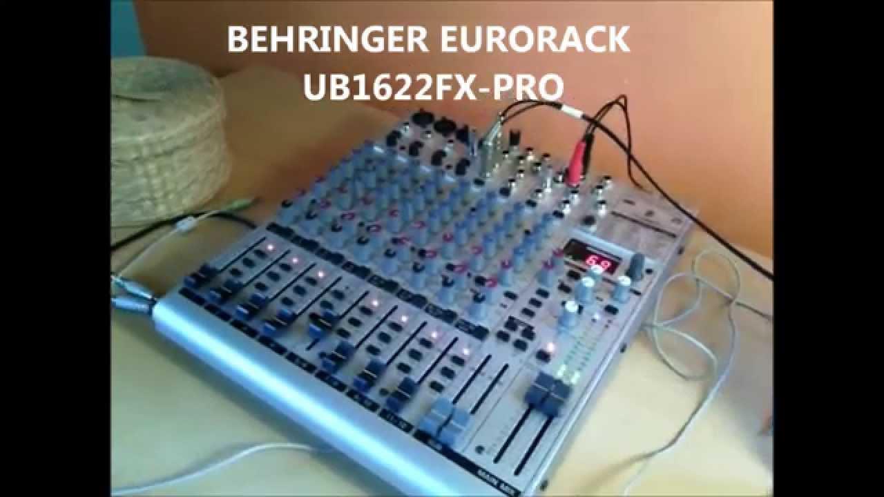 behringer eurorack ub2222fx pro manual