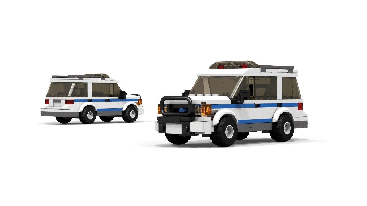 Custom LEGO City Police Ford Interceptor Truck New York City