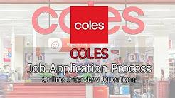 Coles Job Application Process - Online Interview Questions 2018