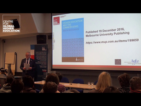 Higher Education and the Common Good by Professor Simon Marginson - book launch