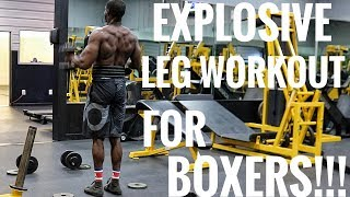 EXPLOSIVE LEG WORKOUT FOR BOXERS!!! Stronger Knock Out Power & Better Balance!!!