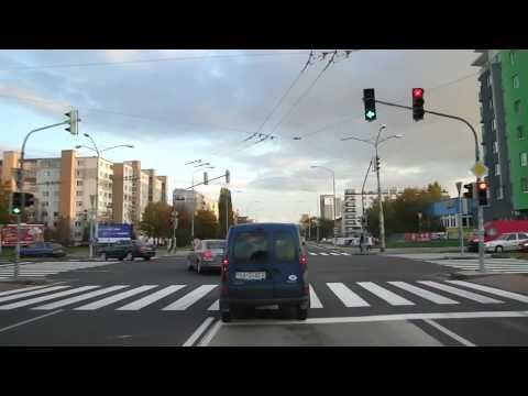 Trolleybus line [201], Bratislava, Slovakia, in cab view, part.3/3
