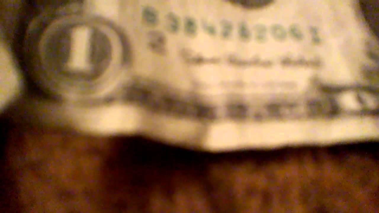 Slender Man On Dollar Bill