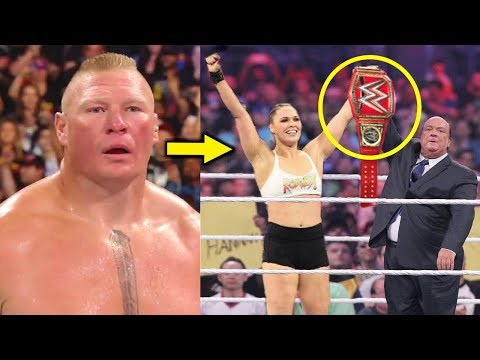 5 WWE Surprising Title Changes Rumored for 2019 - Ronda Rousey Wins Universal Title?