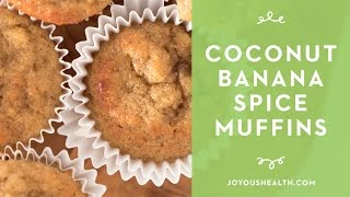 Coconut Flour Banana Spice Muffins