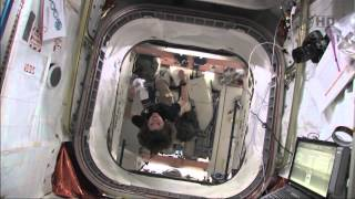 STS-133 Discovery - Flight Day 9 - Crew home Movies  PART 1