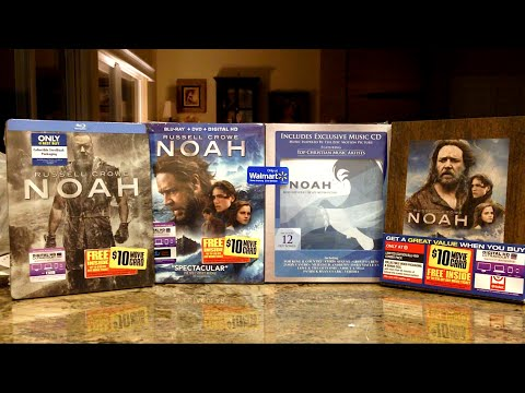 Unboxing Noah on Blu-ray (Walmart, Target, Best Buy Editions)