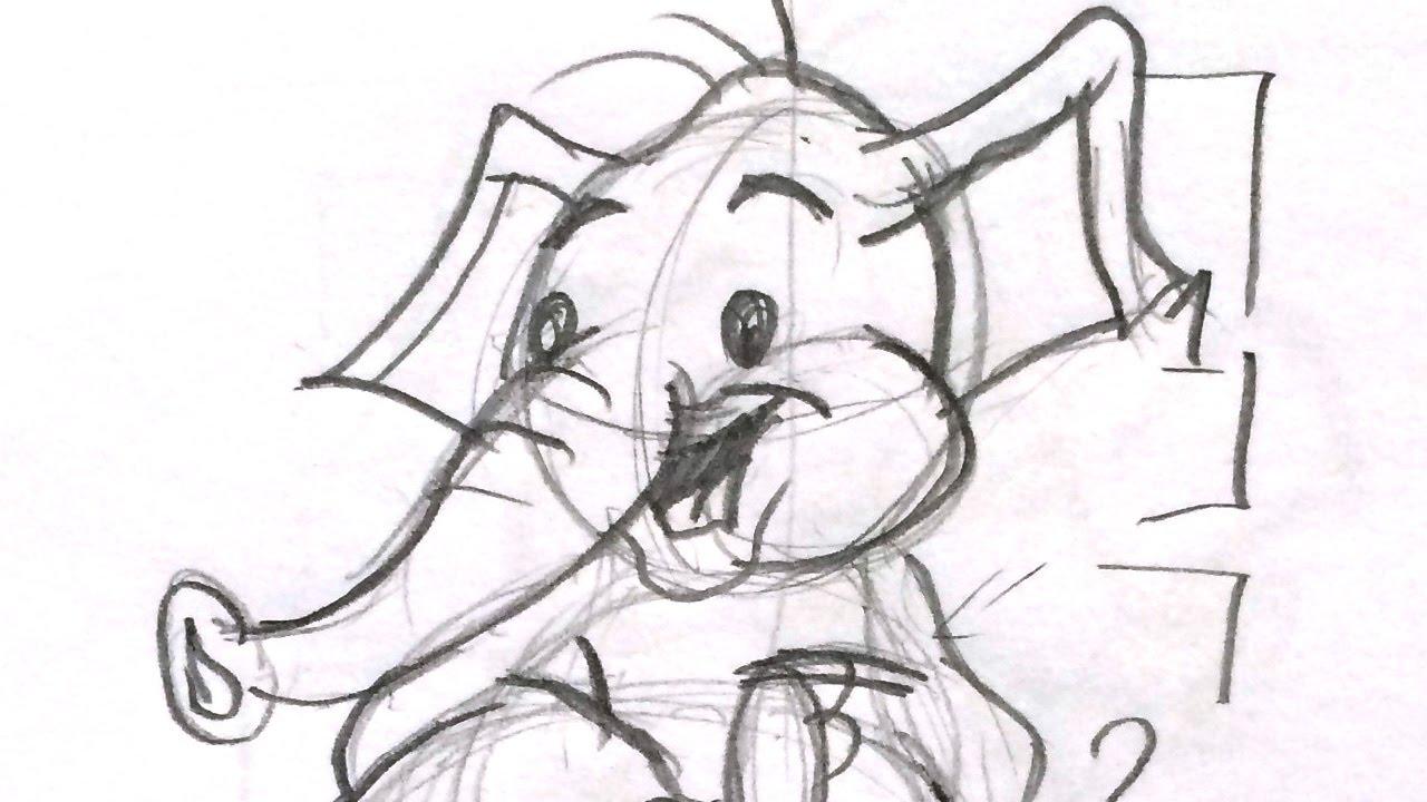 How to draw a cartoon elephant - Drawing Basics: Part 4 - YouTube