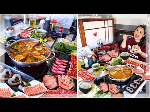 HOT POT SHABU SHABU MUKBANG 먹방 EATING SHOW!