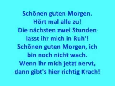Wise Guys Schönen Guten Morgen With Lyrics