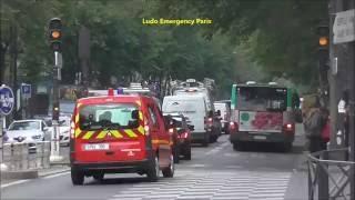 Pompiers de Paris Officiers pour urgence Feu Paris 10 Paris Fire Dept officers responding For Fire