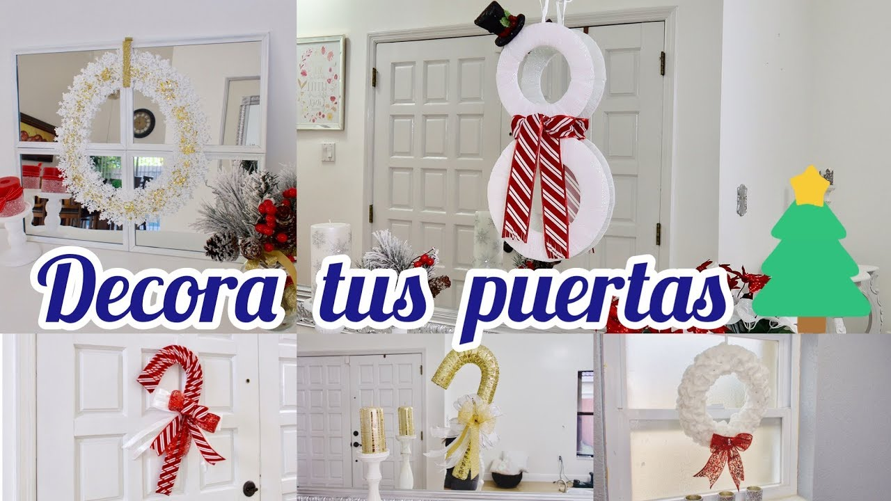 Ideas para decorar puertas navide as bast nes coronas for Ideas para decorar puertas navidenas
