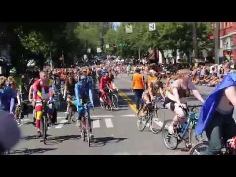 Fremont Solstice Parade: Naked Bike Ride 6-20-15