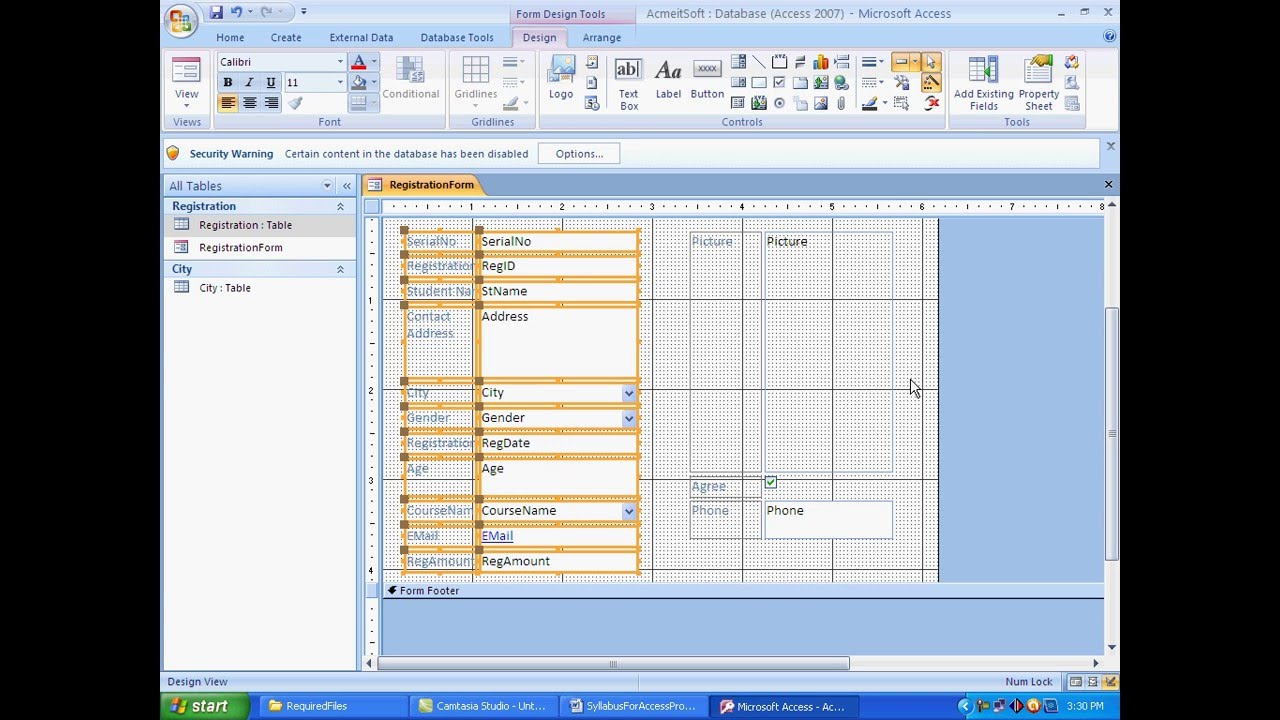 How to Create Log In Form In MS Access VBA And ADO YouTube