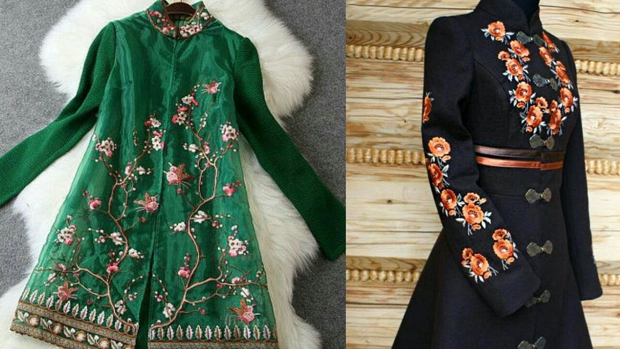 Stylish Hand Embroidery Jacket Design Collection For Girls Top