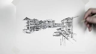 Venice, Italy with Sakura Microns. The process behind the cover shot.