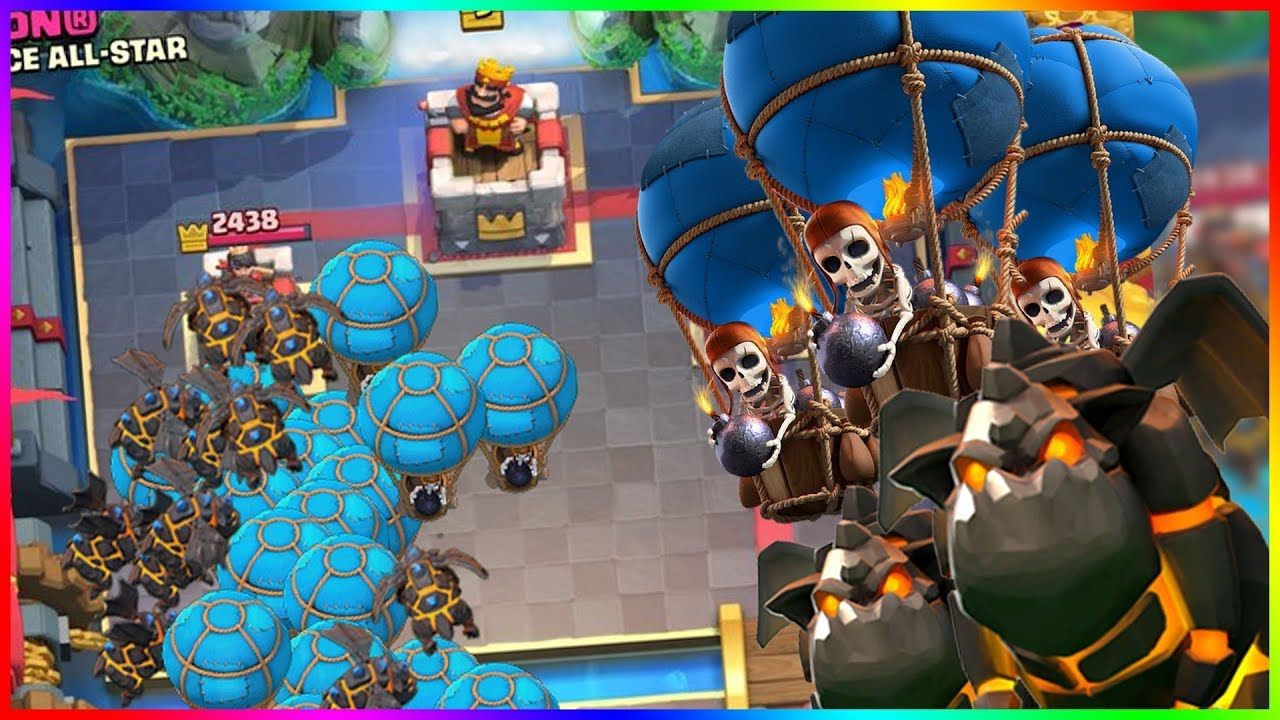 Clash royale un deck molosse ballon qui d boite youtube for Clash royale deck molosse