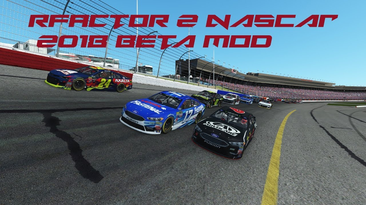 rFactor 2 Mod Review NASCAR 2018 Beta @ Atlanta