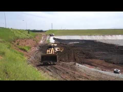Final disposal of water treatment plant sludge in landfill