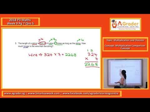 2018 - P3 Maths - Week 9 - Multiplication and Division (Multiplicative Comparison Concept)