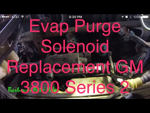 How to replace an evaperative emission purge solenoid on a GM 3.8L V-6 series 2