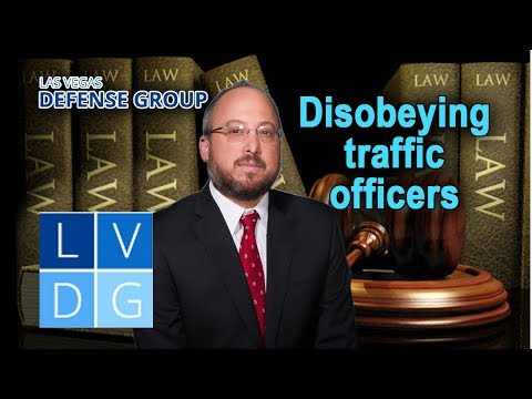 Can I get busted for disobeying a traffic officer in Nevada? (NRS 484B.100)