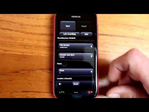 Audio Recorder Pro for Nokia Symbian (e.g. Nokia 808 PureView) demo