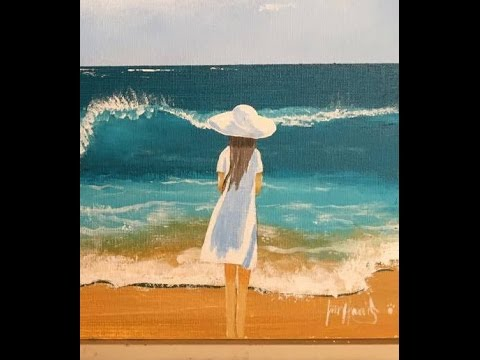 "Girl on the beach ""Acrylic"""