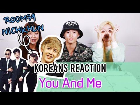 Koreans Reaction to การแสดงที่เกาหลี Room39 X Nichkhun - You and me, 룸39 X 닉쿤 - 난 너의 단짝이여만 해