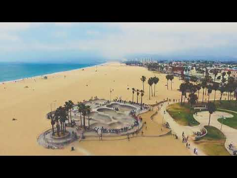 Drone From Venice Beach to Santa Monica Pier