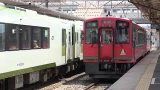 【4K】会津若松駅発車メロディー「AIZUその名の情熱」会津鉄道750形発車