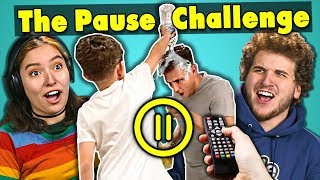 college-kids-react-to-the-pause-challenge-compilation