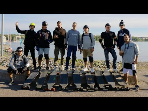 Stockholm eskate group ride Evolve, Mellow, boosted board, DIY September 9th 2018