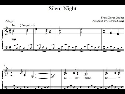 Silent Night Advanced Version Franz Xaver Gruber Piano
