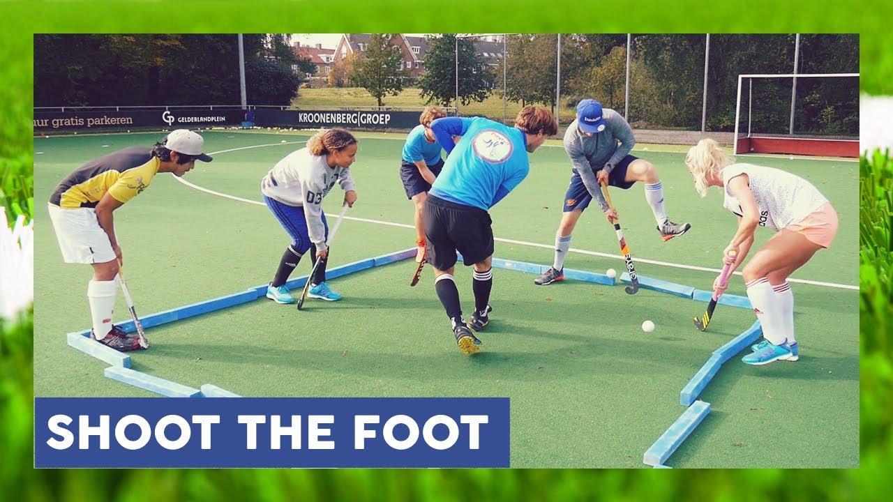 Shoot The Foot Field Hockey Game Hockeyheroestv Youtube