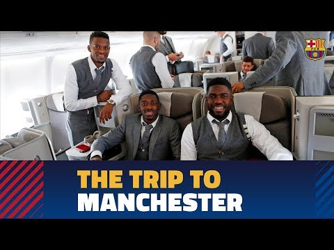 MANCHESTER UNITED – BARÇA | The team lands in Manchester before the Champions League match