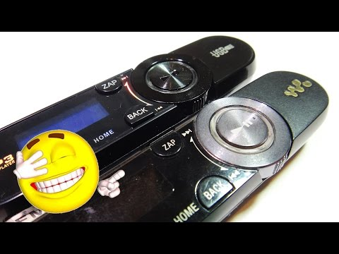 Mp3 плеер с FM радио, пародия на Sony. Посылка из Китая.